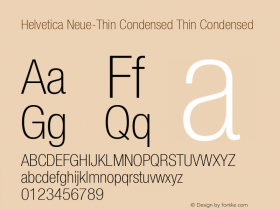 Helvetica Neue-Thin Condensed