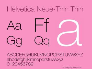 Helvetica Neue-Thin