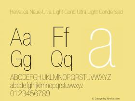 Helvetica Neue-Ultra Light Cond
