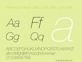 Helvetica Neue-Ultra Light