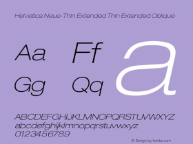 Helvetica Neue-Thin Extended