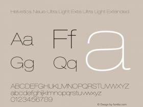 Helvetica Neue-Ultra Light Exte