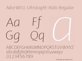 Ador-UltraLight-Italic