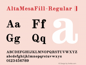 AltaMesaFill-Regular