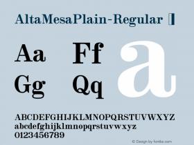 AltaMesaPlain-Regular