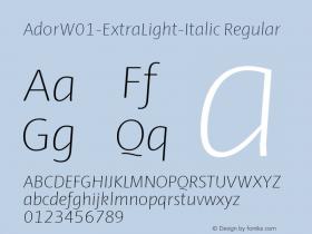 Ador-ExtraLight-Italic