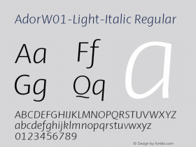 Ador-Light-Italic