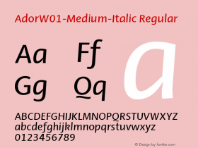 Ador-Medium-Italic