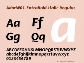 Ador-ExtraBold-Italic