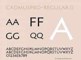 CadmusPro-Regular