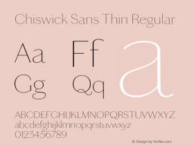 Chiswick Sans Thin