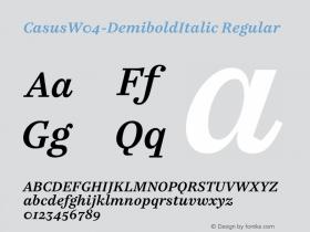 Casus-DemiboldItalic