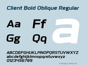 Client Bold Oblique