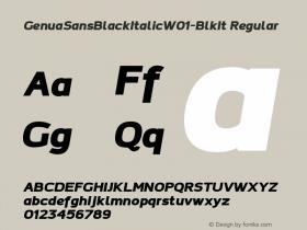 GenuaSansBlackItalic-BlkIt