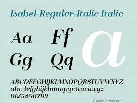 Isabel-Regular-Italic