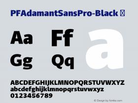 PFAdamantSansPro-Black