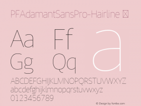 PFAdamantSansPro-Hairline