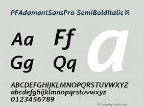 PFAdamantSansPro-SemiBoldItalic
