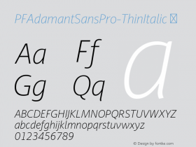 PFAdamantSansPro-ThinItalic