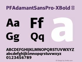 PFAdamantSansPro-XBold