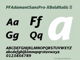 PFAdamantSansPro-XBoldItalic