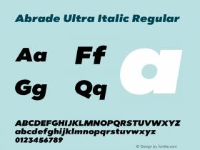 Abrade Ultra Italic