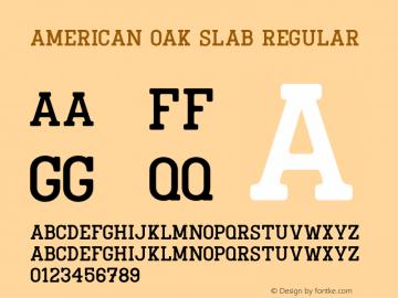 American Oak Slab