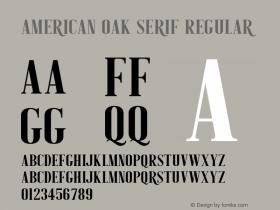 American Oak Serif