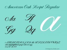 American Oak Script
