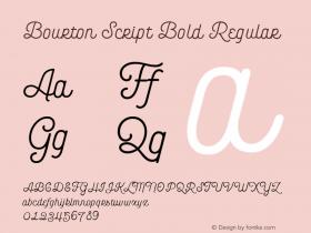 Bourton Script Bold