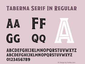 Taberna Serif In