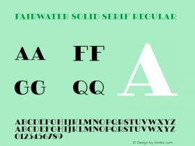 Fairwater Solid Serif