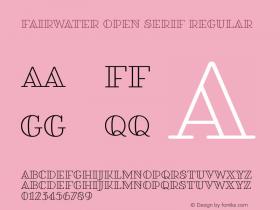 Fairwater Open Serif