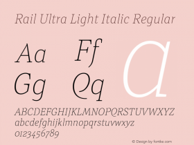 Rail Ultra Light Italic