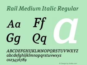 Rail Medium Italic