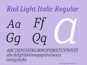 Rail Light Italic
