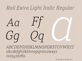 Rail Extra Light Italic