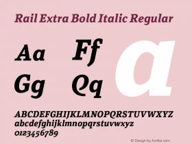 Rail Extra Bold Italic