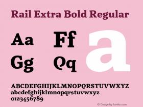 Rail Extra Bold