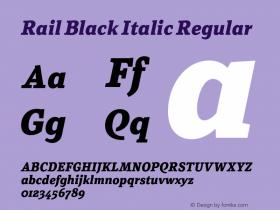Rail Black Italic
