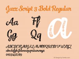 Jazz Script 3 Bold