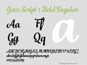 Jazz Script 1 Bold
