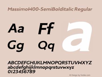 Massimo-SemiBolditalic