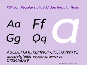 F37 Jan Regular Italic