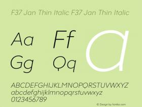 F37 Jan Thin Italic