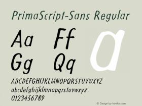 PrimaScript-Sans