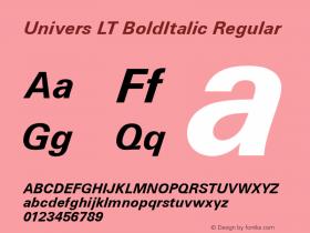 Univers LT BoldItalic