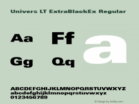 Univers LT ExtraBlackEx