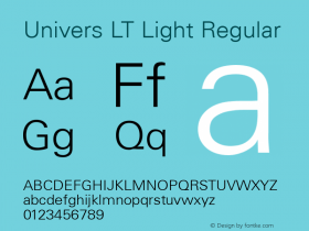 Univers LT Light