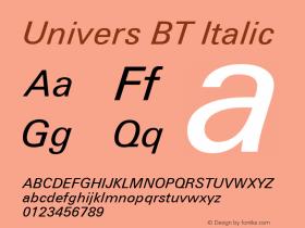 Univers BT